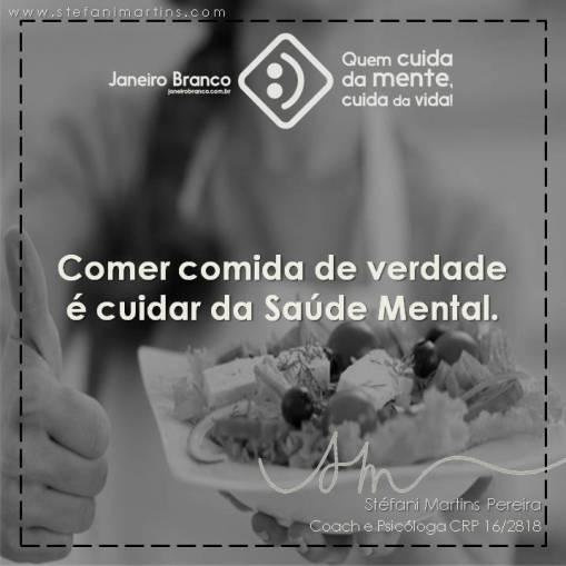 Alimentação e Saúde Mental Janeiro Branco